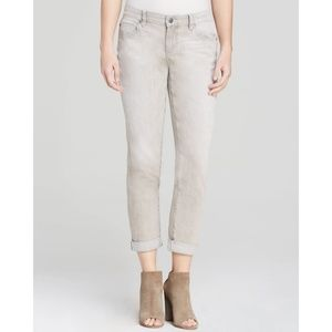 Eileen Fisher Vintage Gray Organic Cotton Jeans 10
